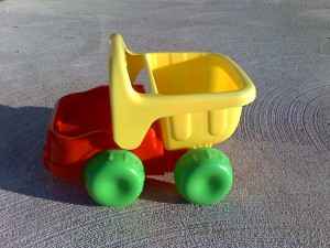 Lost toy truck.